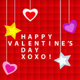Happy Valentine day card Stock Photography