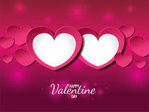 Happy valentine day card (twin heart of love) Stock Photo
