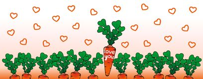 Happy valentine day with a carrots Stock Images