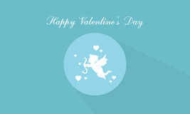 Happy Valentine Day with cupid. Vector art Stock Photography