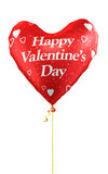Happy Valentine Day. 3d render Happy Valentine's Day and Red heart balloons (isolated on white and clipping path Stock Image