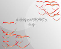 Happy valentine day. Valentine day decoration with love Royalty Free Stock Image