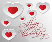 Happy valentine day. Valentine day decoration with love Royalty Free Stock Photos