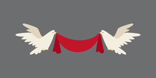 Happy valentine day flat design love wedding items and heart love romance celebration vector illustration. Royalty Free Stock Image