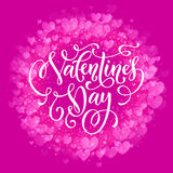Happy Valentine day golden hearts pattern greeting card Royalty Free Stock Photo