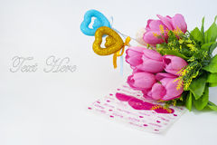 Happy Valentine Day!. Greeting card on Valentine Day Royalty Free Stock Photos