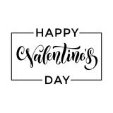 Happy Valentine day greeting card calligraphy Stock Photo