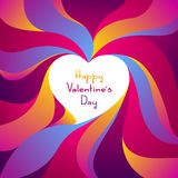 Happy Valentine Day greeting card. Colored heart shape. Love romantic background. weeding design vector illustration