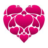Happy Valentine Day greeting card. Pink heart shape. Love romantic background. weeding design vector illustration