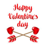 Happy Valentine day greeting card  Stock Image