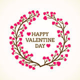 Happy valentine day greeting design Stock Photo