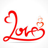 Happy valentine day greeting design Stock Images