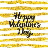 Happy Valentine Day Handwritten Card Stock Image