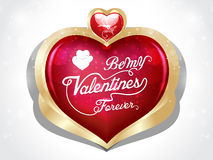 Happy valentine day heart background with floral Stock Photos