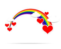 Happy Valentine day heart cloud and rainbow 001 Stock Photography
