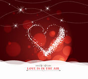 Happy valentine day with heart light Background Stock Image