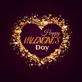 Happy valentine day. Heart with title. Vector Stock Photos