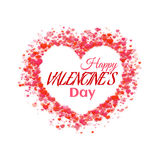 Happy valentine day. Heart with title. Vector Royalty Free Stock Photo
