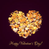 Happy valentine day. Heart with title. Vector Stock Photo