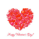 Happy valentine day. Heart with title. Vector illustration Stock Photo