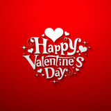 Happy Valentine day message banner Royalty Free Stock Images
