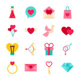 Happy Valentine Day Objects Royalty Free Stock Photography