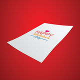 Happy Valentine Day on paper. Royalty Free Stock Photos
