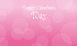 Happy Valentine Day with pink backgrounds. Illustration royalty free illustration