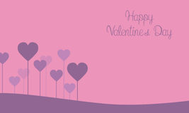 Happy Valentine Day on pink backgrounds. Vector art vector illustration