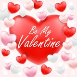 Happy valentine day with pink red white heart. A happy valentine day with pink red white heart Stock Photography