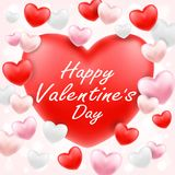 Happy valentine day with pink red white heart. A happy valentine day with pink red white heart Royalty Free Stock Images