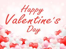 Happy valentine day with pink red white heart. A happy valentine day with pink red white heart Stock Images