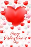 Happy valentine day with pink red white heart. A happy valentine day with pink red white heart Royalty Free Stock Image