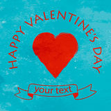 Happy Valentine day postcard Stock Images