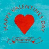 Happy Valentine day postcard Stock Images