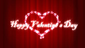 Happy Valentine day. With red curtine, Full HD royalty free illustration