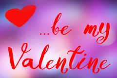 Happy valentine day. Valentine`s background, wallpaper happy Valentine be my Valentine Royalty Free Stock Images