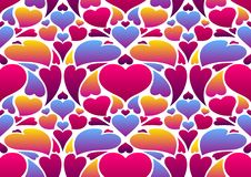 Happy Valentine Day seamless pattern. Colored hearts shape. Love romantic background. weeding design royalty free illustration
