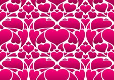 Happy Valentine Day seamless pattern. Pink hearts shape. Love romantic background. weeding design stock illustration