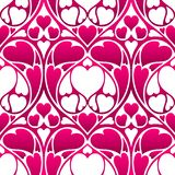 Happy Valentine Day seamless pattern. Pink hearts shape. Love romantic background. weeding design royalty free illustration