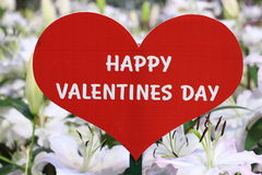 Happy valentine day sign. With heart shape Royalty Free Stock Images