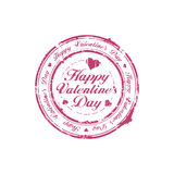 Happy Valentine Day stamp Stock Photography