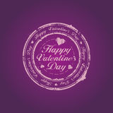 Happy Valentine Day stamp Royalty Free Stock Photography