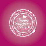 Happy Valentine Day stamp Royalty Free Stock Images