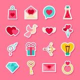 Happy Valentine Day Stickers Stock Photo