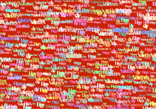 Happy Valentine Day text color abstract background Stock Images