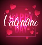 Happy valentine day,text in a heart shape float. Vector Stock Images
