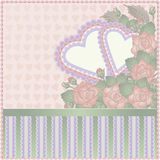 Happy Valentine day vintage card Royalty Free Stock Photos