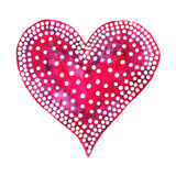 Happy Valentine Day! Watercolor painted heart,  element for your lovely design.Watercolor illustration for your card or poster Stock Photos