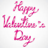 Happy Valentine day wording Royalty Free Stock Images